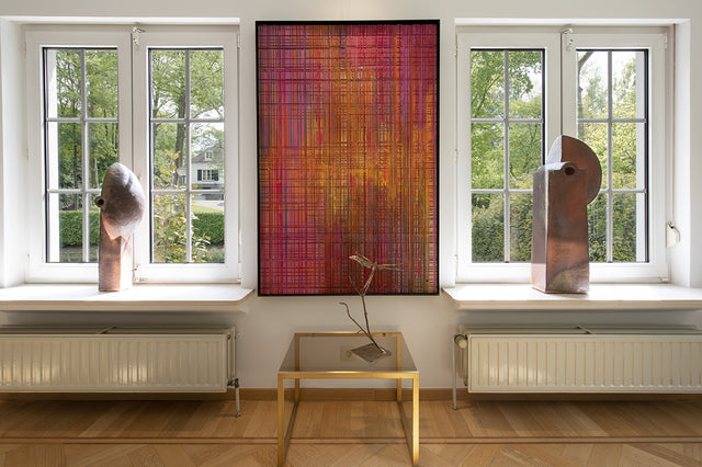 Helene Dawans belgian artist abstract paintings Alexia werrie Gallery art in a house tervuren brussels