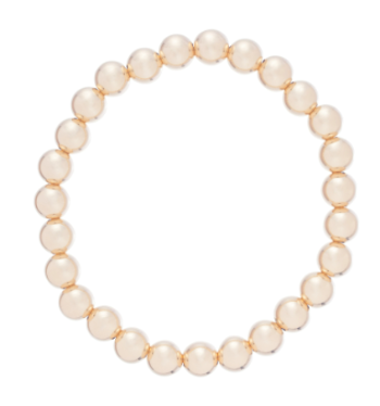 classic gold 7mm bead bracelet
