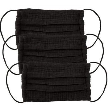 Cotton Mask 3pc Set - All Black