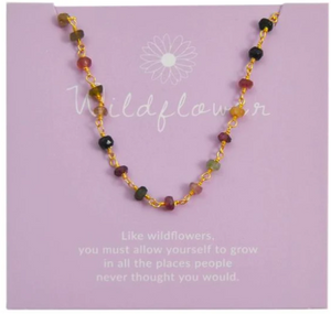 TOURMALINE WISH CHOKER WILDFLOWER