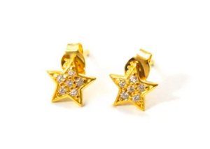 STARRY EYED STUDS GOLD