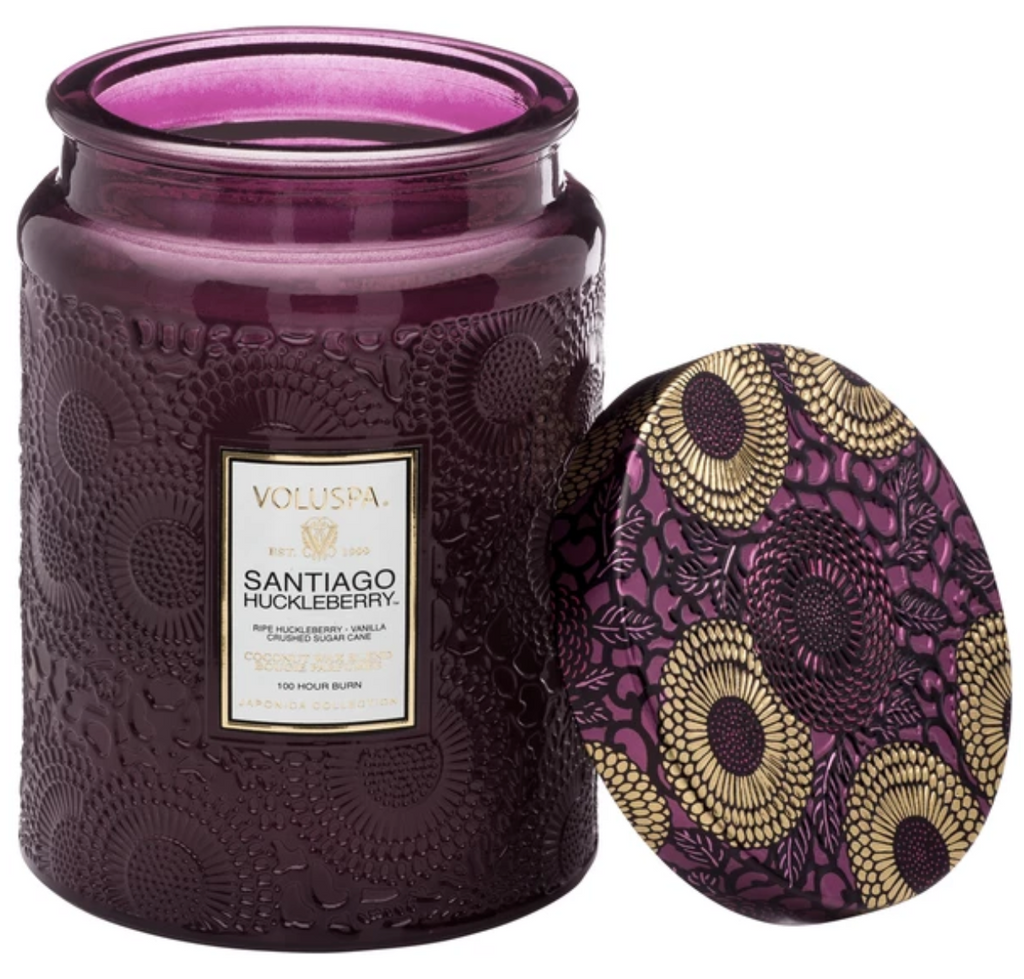 SANTIAGO HUCKLEBERRY LARGE JAR CANDLE