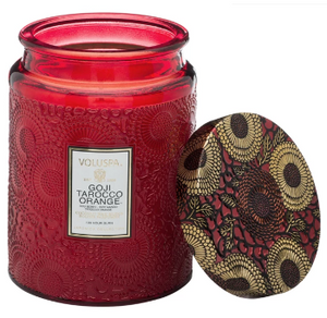 GOJI TAROCCO ORANGE LARGE JAR CANDLE
