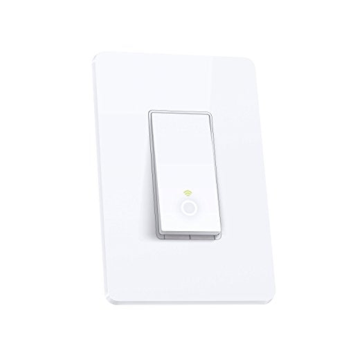 TP-Link Smart Wi-Fi Light Switch, No Hub Required, Single Pole, Control Your Fixtures From Anywhere, Works with Alexa (HS200)