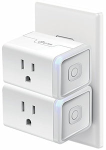 TP-Link Smart Plug Mini (2-Pack), No Hub Required, Wi-Fi, Works with Alexa, Control your Devices from Anywhere, Occupies Only One Socket (HS105 KIT)