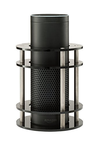 Acrylic Amazon Alexa Echo Speaker Stand (Black)
