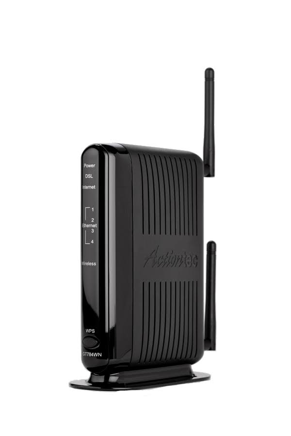 Actiontec N DSL GT784WN Wireless Router - DSL Modem - 300 Mbps - 2.4 GHz