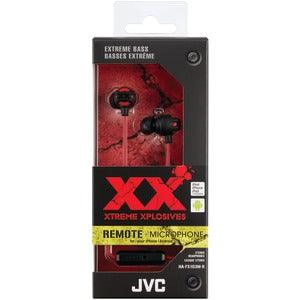 JVC XX Series Xtreme Xplosives Earbuds with Microphone (Red)