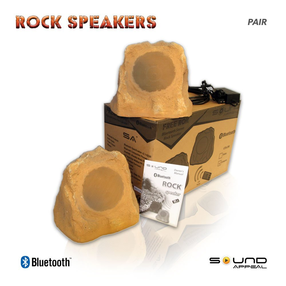 Bluetooth Outdoor Rock Speaker (Canyon) - Stereo pair by Sound Appeal