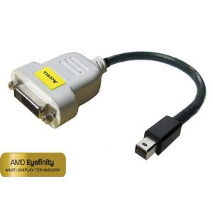 "Accell UltraAV  Video Cable Adapter - 10"" - DVI-D Female Digital Video - Mini DisplayPort Male Digital Audio/Video"