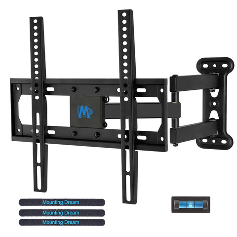 Mounting Dream MD2377 TV Wall Mount Bracket for most of 26-55 Inch LED, LCD, OLED Flat Screen TV with Full Motion Swivel Articulating Arm up to VESA 400x400mm and 60 lbs with Tilting
