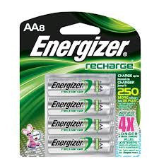 Energizer AA Nickel Metal Hydride 8PK Battery - Nickel-Metal Hydride (NiMH) - 2300mAh