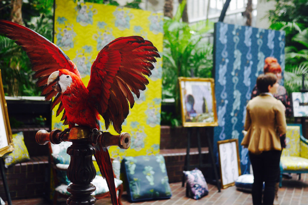A favourite guest of ours - a taxidermy parrot was a focal point of the day.