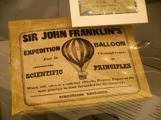 A balloon artefact found at the Polar Museum, which inspired the central feature of our Expedition Cushion.