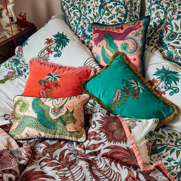 The Lynx cushion collection adding a touch of enchantment to beds, chairs, sofas and updating your favourite corner of you home