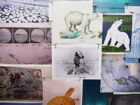 Left and right: The mood board inspiration behind the Expedition design.