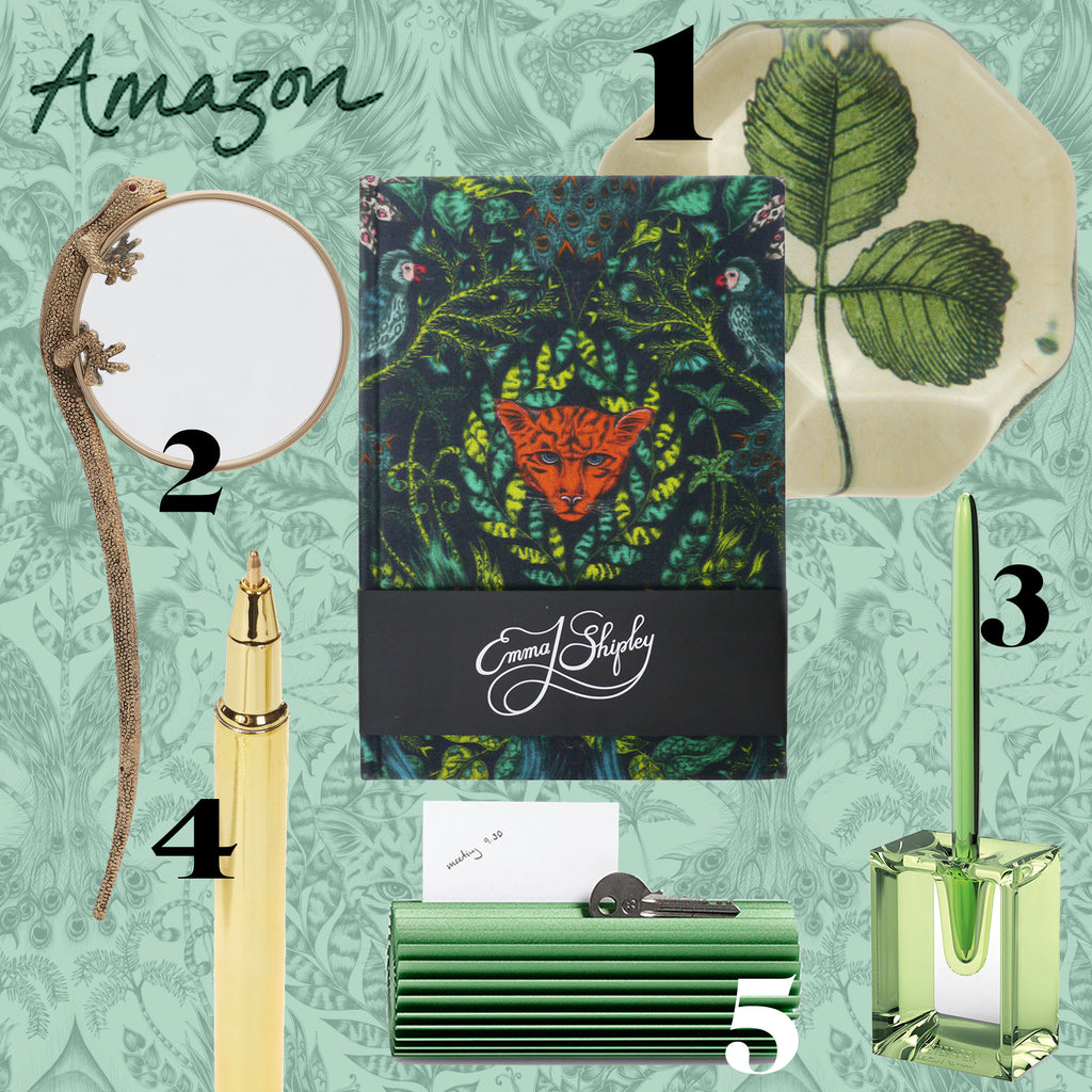 If you're an avid nature lover, then the Amazon Silk journal will satisfy your botanical needs along with these quirky accessories, and makes for the perfect gift.