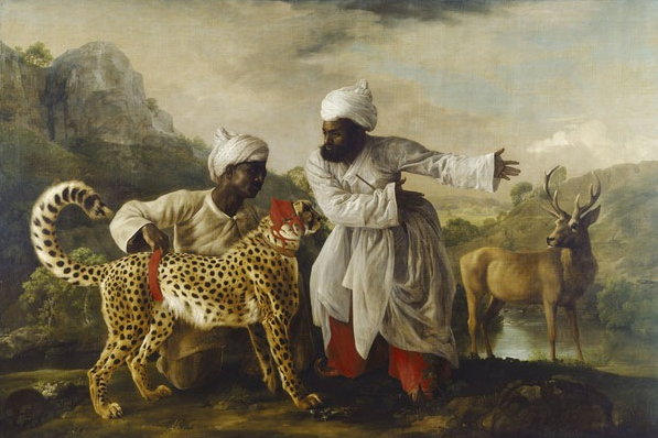 George Stubbs, 'A Cheetah and a Stag with two Indian Attendants' 1765. Copyright Manchester Art Gallery