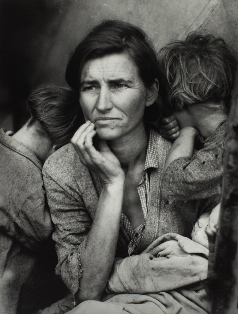 "Dorothea Lange 1895-1965 ""Migrant Mother"" 1936 Photograph, gelatin silver print on paper 318 x 241 mm The Sir Elton John Photography Collection"