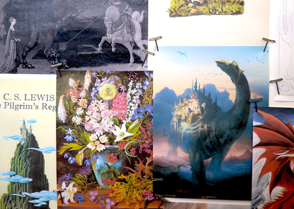 Detail from the moodboard for the Emma J Shipley Mythical collection