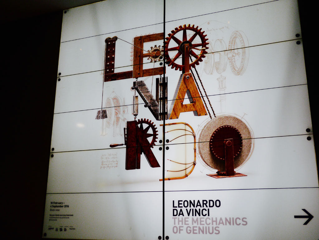 Right: Leonardo da Vinci: The Mechanics of Genius at the Science Museum, London