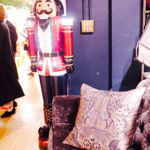 Left and right: You'll find our brand new cushions next to the Liberty Christmas Shop - heaven!