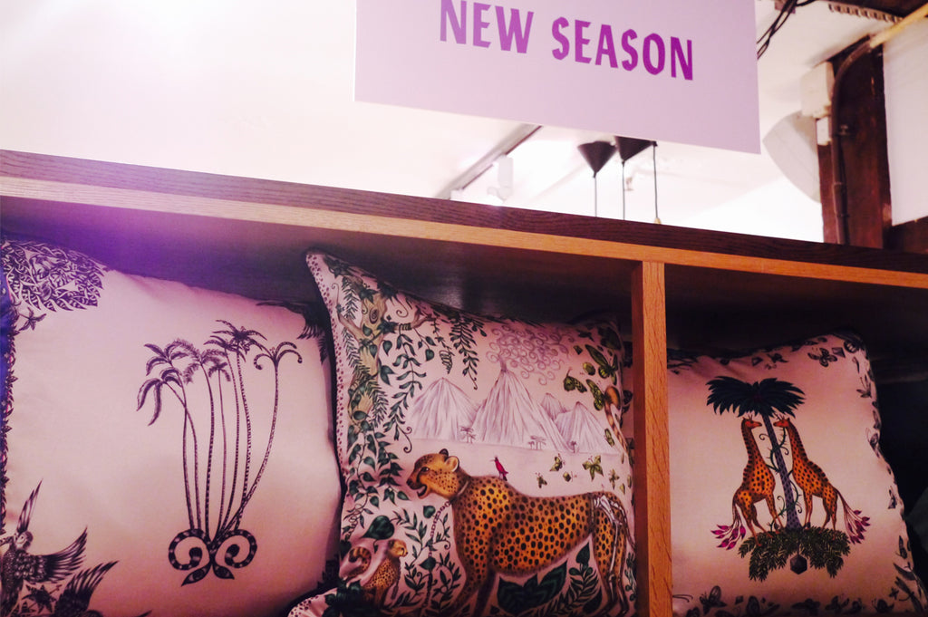 The Amazon Palms, Cheetah and Giraffe cushions are still available at Liberty.