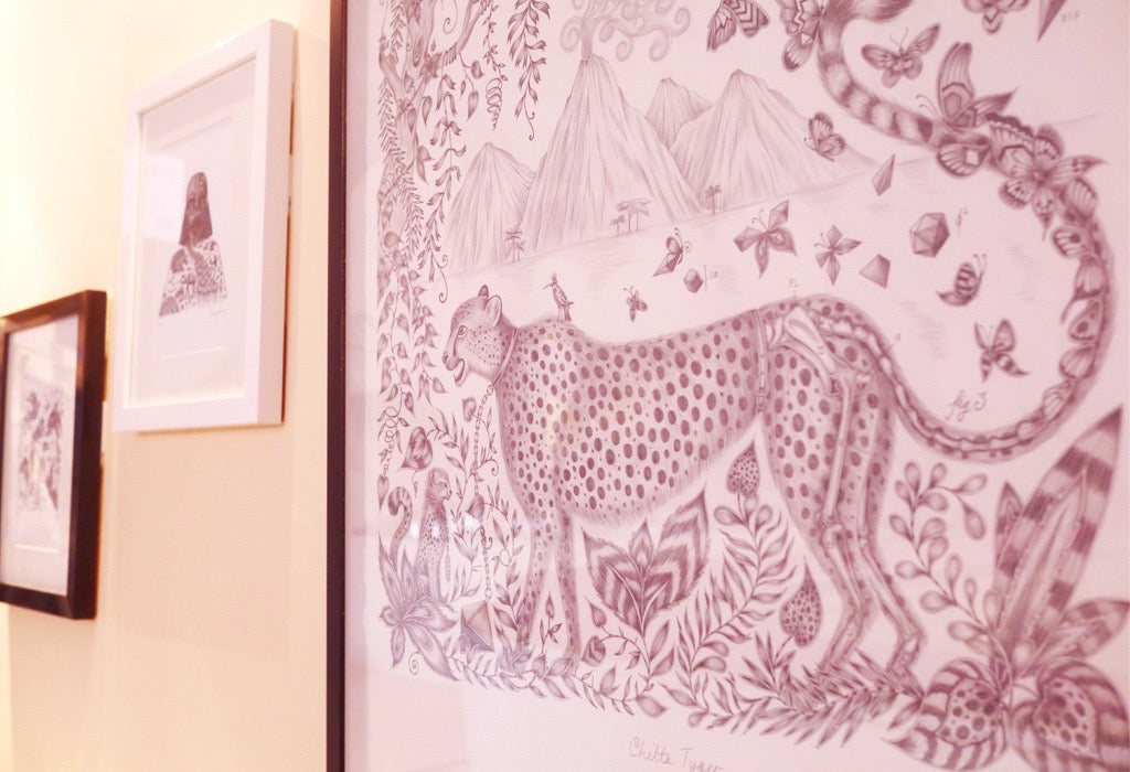 Emma's original drawings were on display during LuxuryMade.
