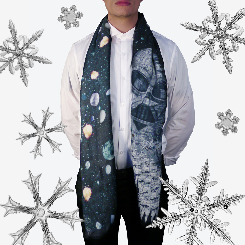 The Vader Long Wool Scarf by Emma J Shipley can be worn casually or formally.