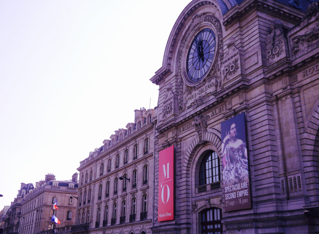 The grand entrance to the Musee D'Orsay.