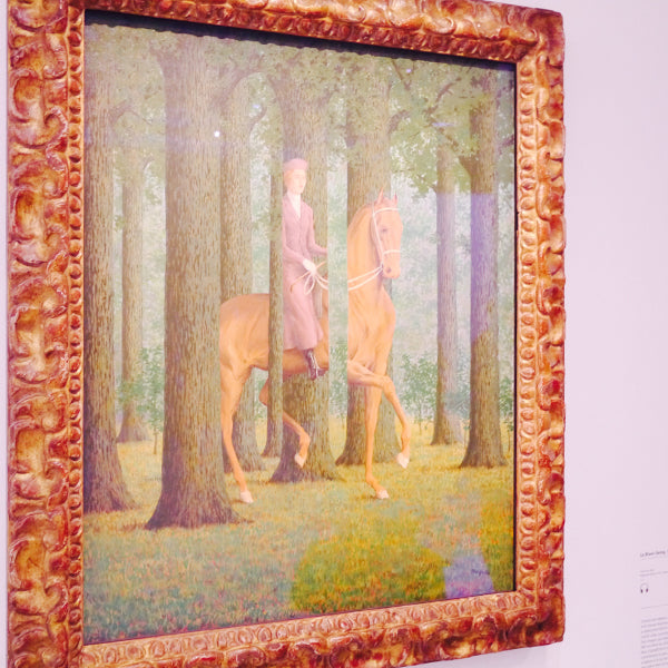 René Magritte's famous painting Le Blanc-Seing (1965) was a favourite of ours from the Pompidou.