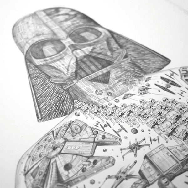 Darth Vader from our Star Wars inspired drawing