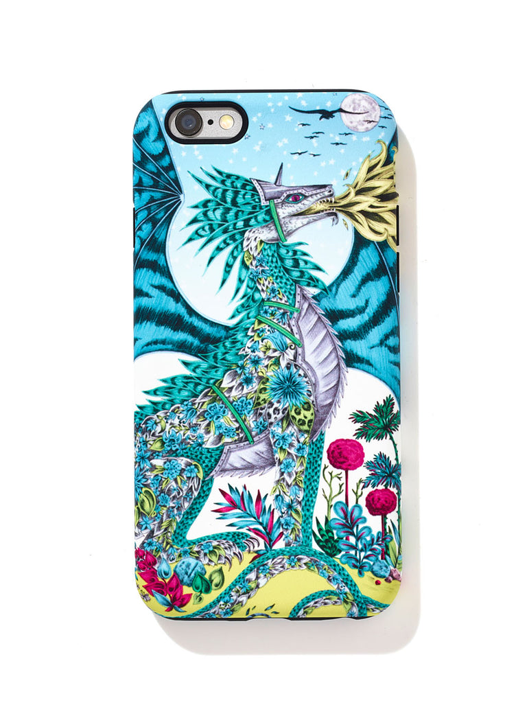 Drakon phone case design inspired by the original pencil drawing by Emma J Shipley