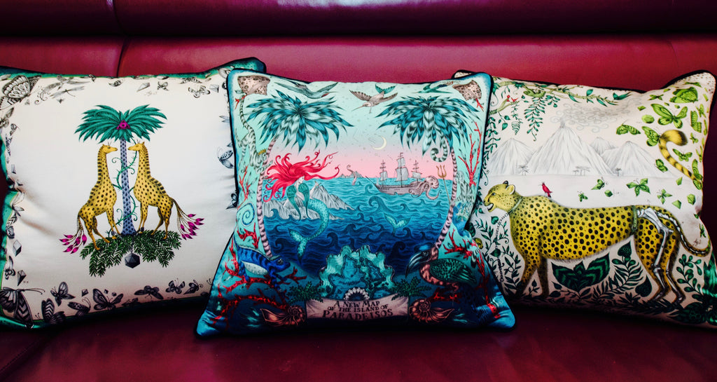 Our cushions were displayed front and centre in the bar, along with a sneak-peak at the upcoming Sirens cushion.
