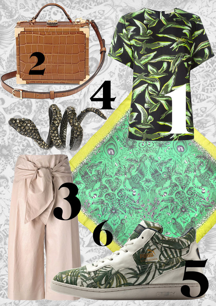Our jungle fashion edit with a selection of Amazon-inspired items