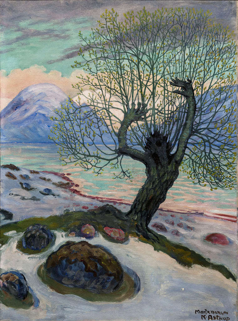 Nikolai Astrup, 'A Morning in March', c. 1920. Oil on canvas. Photo copyright Dag Fosse / KODE