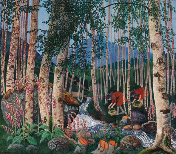 Nikolai Astrup, Foxgloves, 1927, colour woodcut on paper, 70 x 78 cm, The Savings Bank Foundation DNB/The Astrup Collection/KODE Art Museums of Bergen. Photo copyright of Anders Bergersen