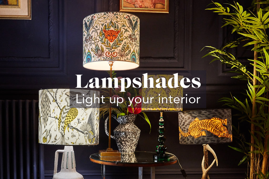 Exotic lampshades, for a statement interior, by Emma J Shipley