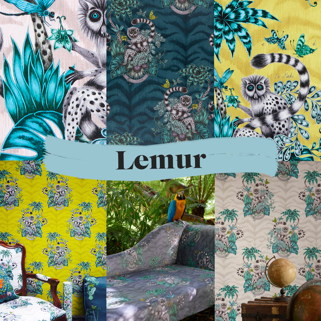 The Lemur wallpaper and fabric - a preview of what's to come