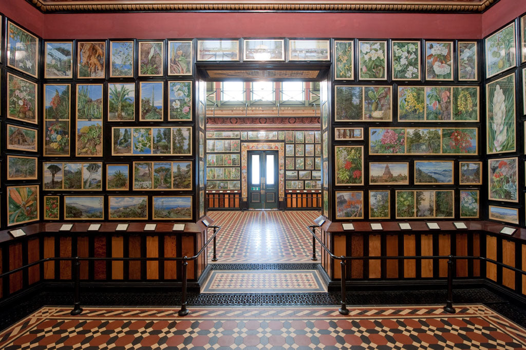 Right: The restored Marianne North Gallery at Kew Gardens
