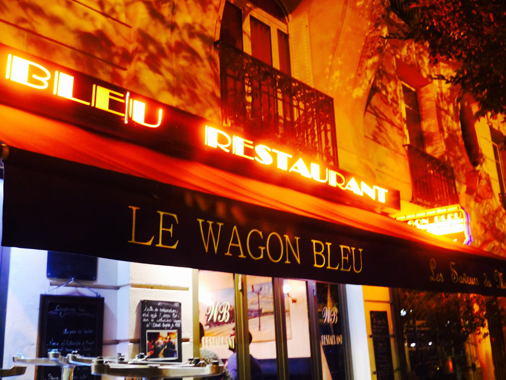 The front of Le Wagon Blue, one of our favourite restaurants.