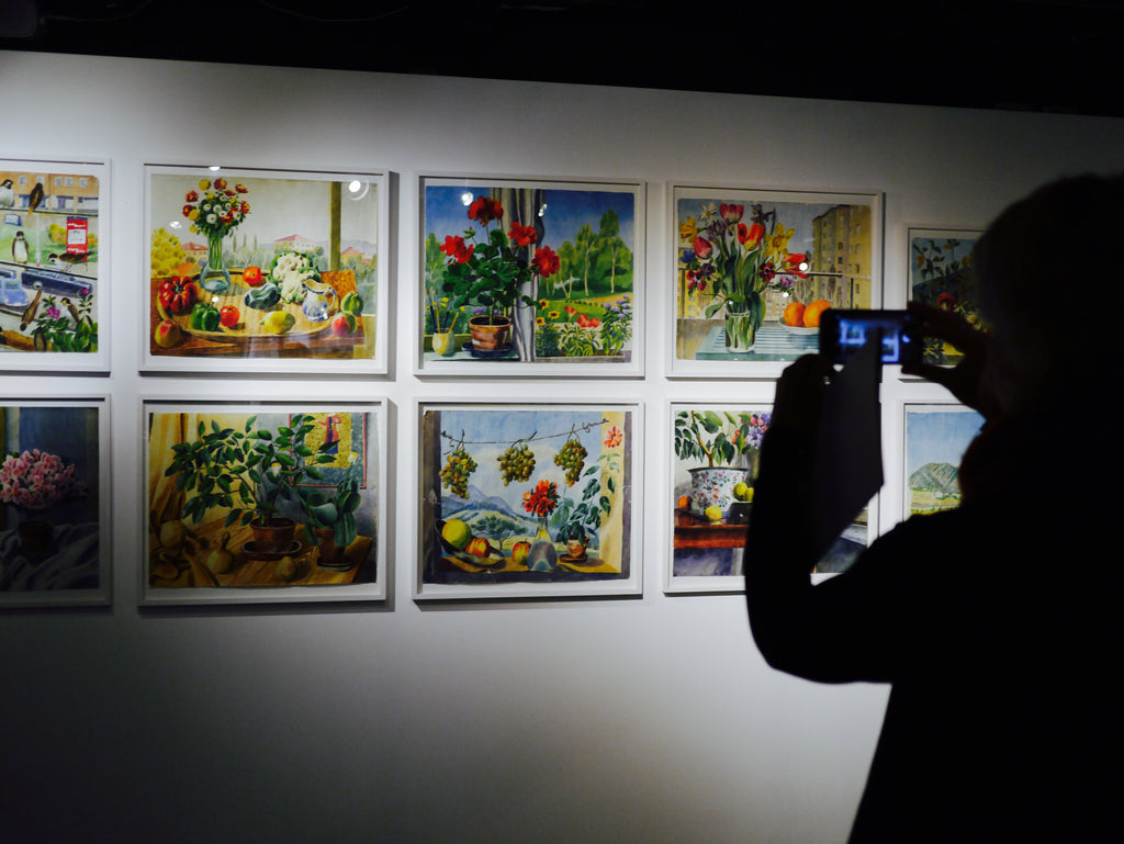 Over 400 unseen watercolour prints were displayed at the exhibit, ranging from cityscapes to still life.