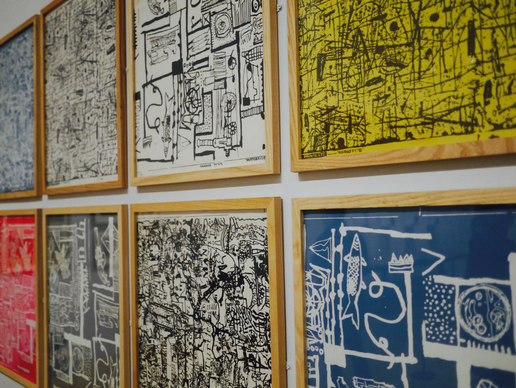 A collaborative series of screen prints that Paolozzi worked on with Nigel Henderson, from 1950-2.