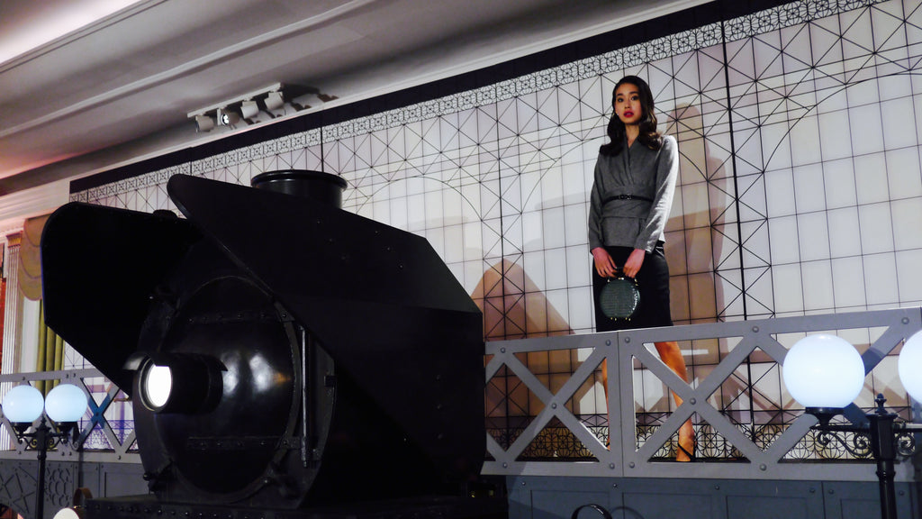 Above the train was a platform that hosted Aspinal models, holding the upcoming collection graciously