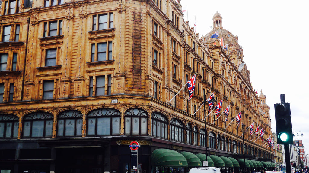 The iconic exterior of Harrods - the 'world's most famous department store.'