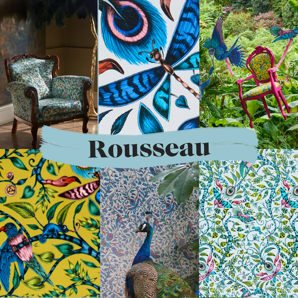 A preview of the Rousseau fabric and wallpaper; details and sneak peaks from the campaign shots
