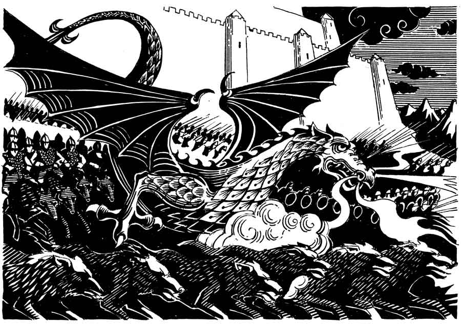 An illustration by Francis Mosley from The Silmarillion