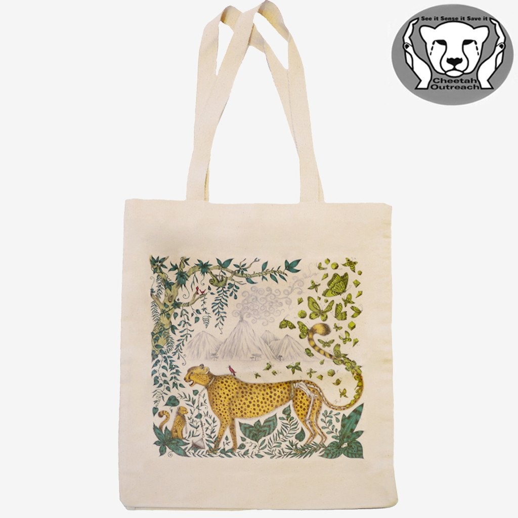 Our brand new Cheetah Tote Bag - made from 100% Fairtrade, reusable cotton.