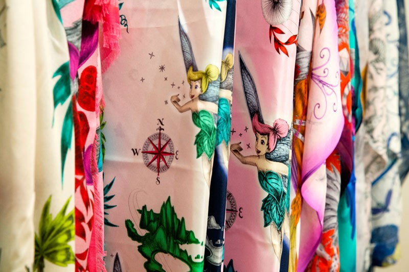 Emma J Shipley Tinker Bell Scarf Collection London Fashion Week