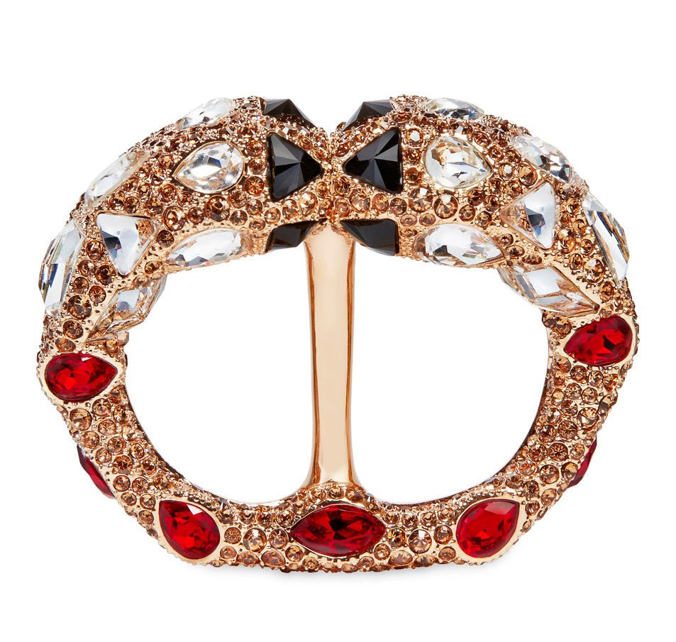 Atelier Swarovski by Emma J Shipley, Arthemis Double Scarf Ring in Red Magma